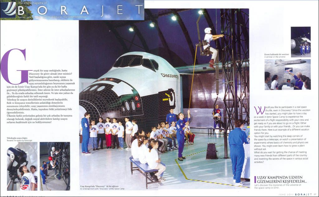 The Inflight Magazine of Borajet && What Would You Say To A Few Days In Izmir Space Camp?