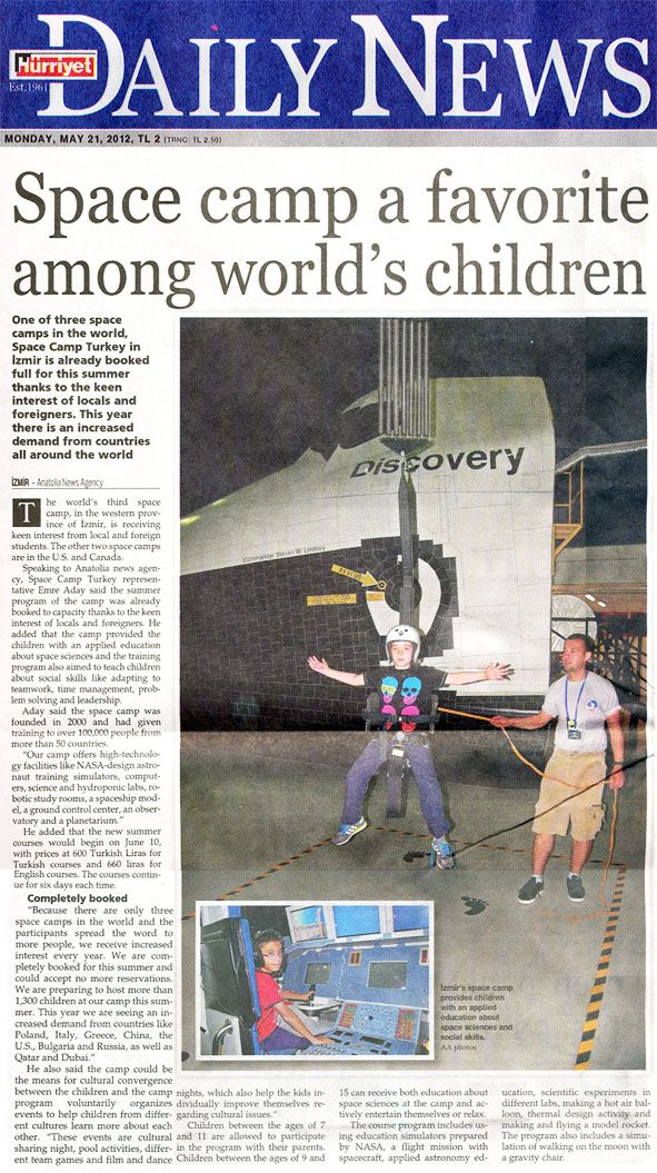 Turkish Daily News && Space Camp a Favorite Among World's Children