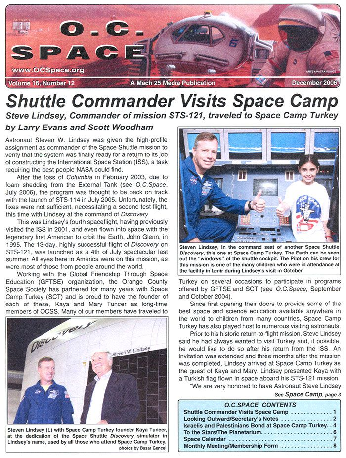 OCSpace.org && Shuttle Commander Visits Space Camp Turkey